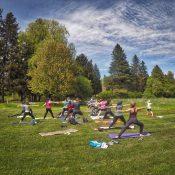 Los geht's: Yoga in der Natur